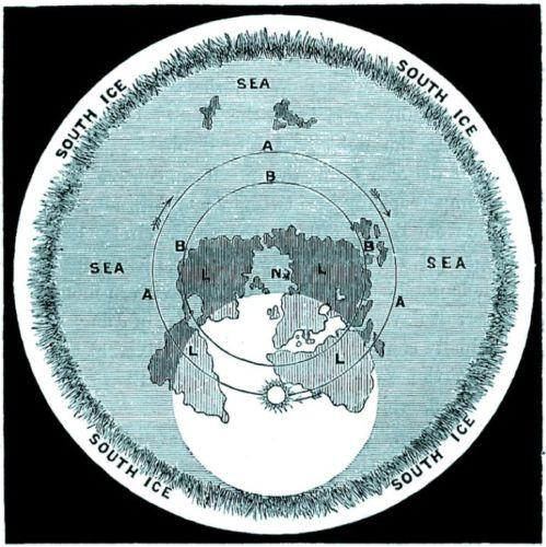 塞缪尔•罗博瑟姆的平地世界地图