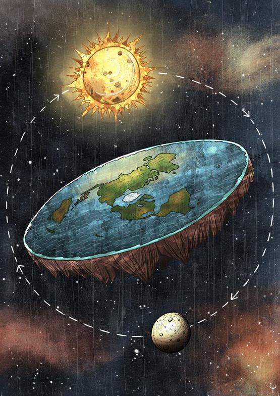 Flat Earth Society。图片来源:Si2/DeviantArt