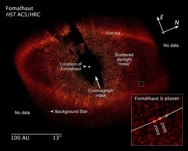 [图片说明]:哈勃空间望远镜所拍摄的北落师门b。版权:NASA/ESA/Z. Levay (STScI)。